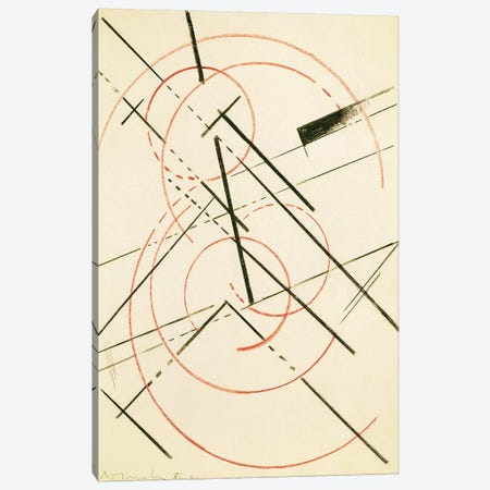 Linear Composition Canvas Print #BMN7430} by Lyubov Popova Canvas Art Print