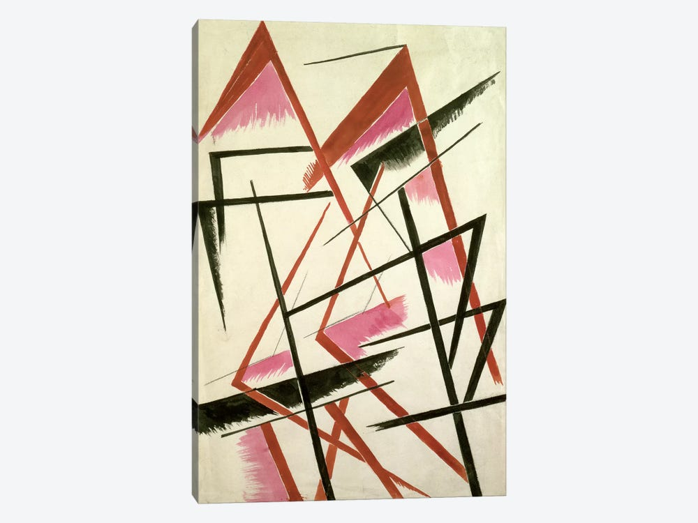 Linear Construction, c.1921 by Lyubov Popova 1-piece Canvas Wall Art