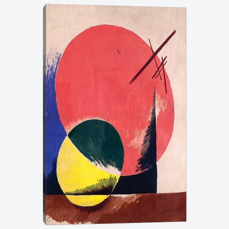 Non-Objective Composition, 1918 Canvas Print #BMN7434} by Lyubov Popova Canvas Art