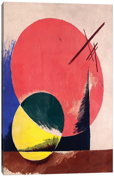 Non-Objective Composition, 1918 Canvas Art Print