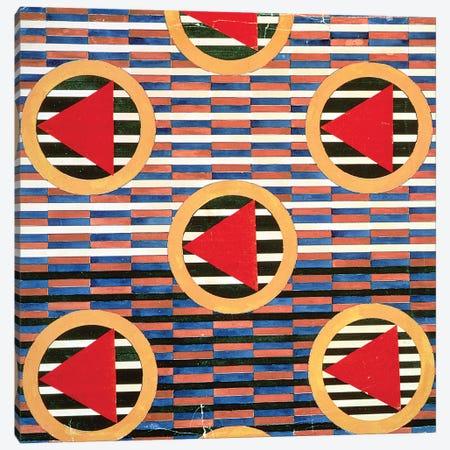 Red Triangles In Circles Canvas Print #BMN7436} by Lyubov Popova Canvas Art