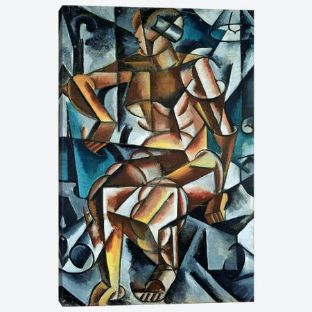 Seated Figure, 1914-15 Canvas Print #BMN7437} by Lyubov Popova Canvas Art