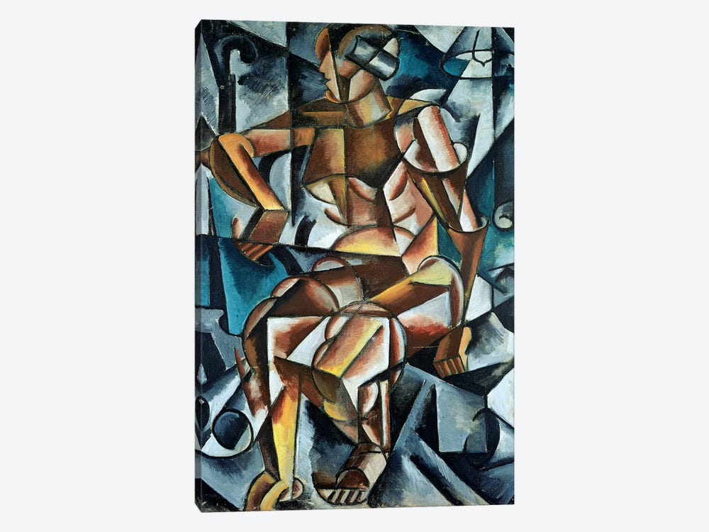 Seated Figure, 1914-15 by Lyubov Popova 1-piece Canvas Wall Art