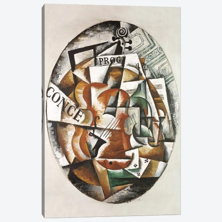 Violin, 1915 Canvas Print #BMN7444} by Lyubov Popova Canvas Art Print