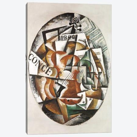 Violin, 1915 Canvas Print #BMN7444} by Lyubov Popova Canvas Art Print