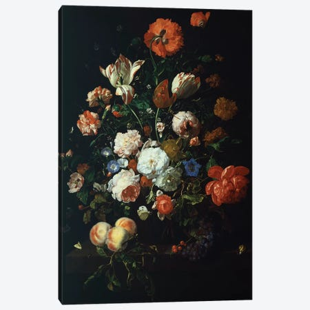 Bouquet Of Flowers Canvas Print #BMN7446} by Rachel Ruysch Art Print
