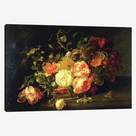 Flowers And Insects, 1711 Canvas Print #BMN7448} by Rachel Ruysch Canvas Artwork