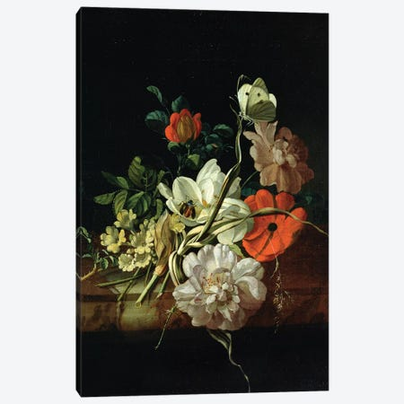 Still Life With Flowers Canvas Print #BMN7452} by Rachel Ruysch Art Print