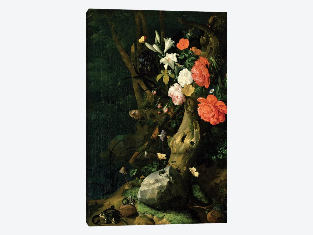 Still Life With Flowers On Woodland Ground, c.1690 1-piece Canvas Artwork