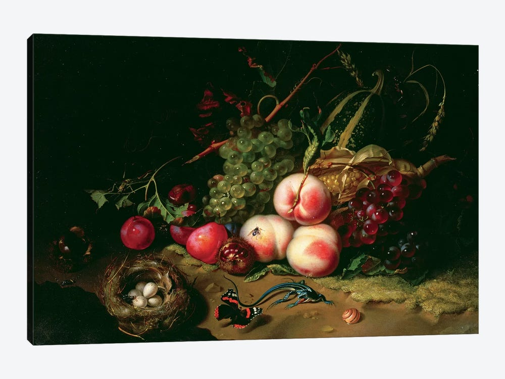 Still Life With Fruit 1-piece Canvas Art Print