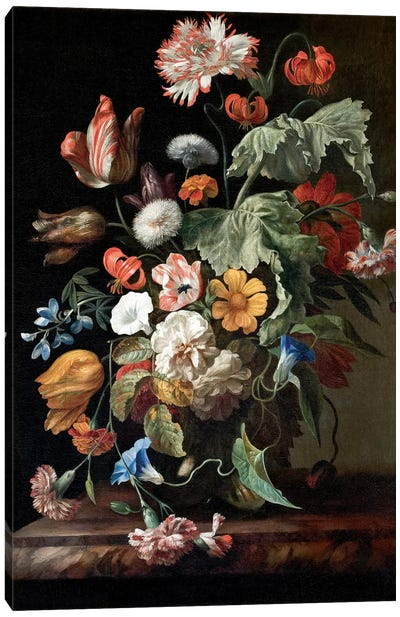 Still-Life With Flowers, c.1700 Canvas Art Print