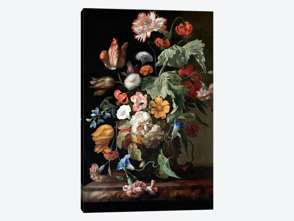 Still-Life With Flowers, c.1700 by Rachel Ruysch 1-piece Canvas Art Print