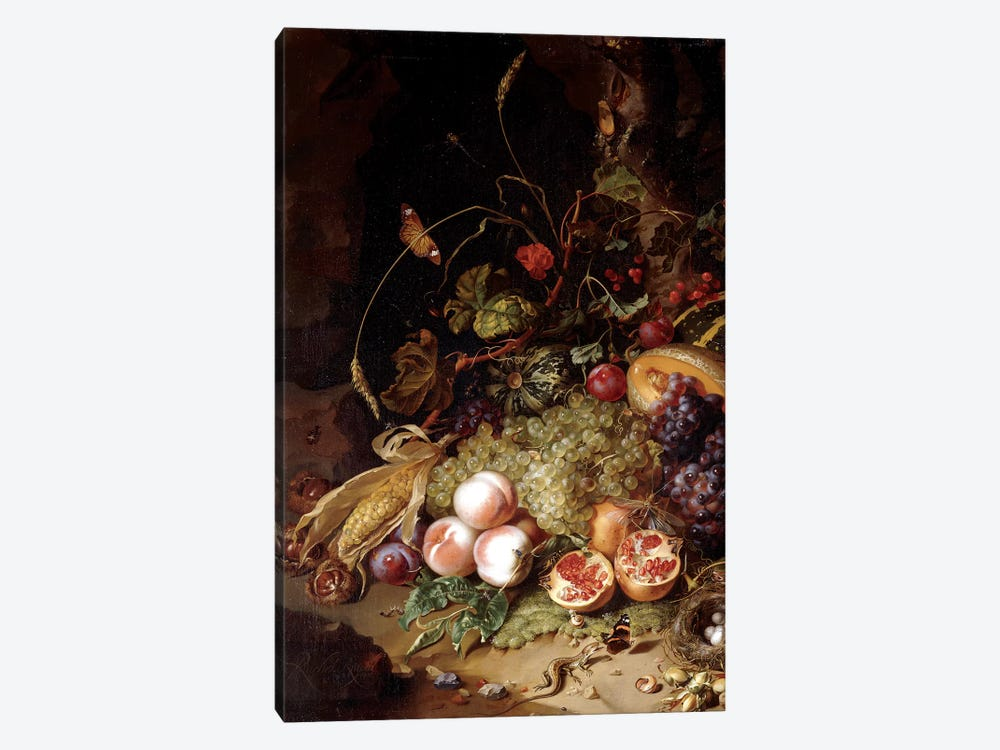 Still-Life With Fruit And Insects by Rachel Ruysch 1-piece Canvas Art