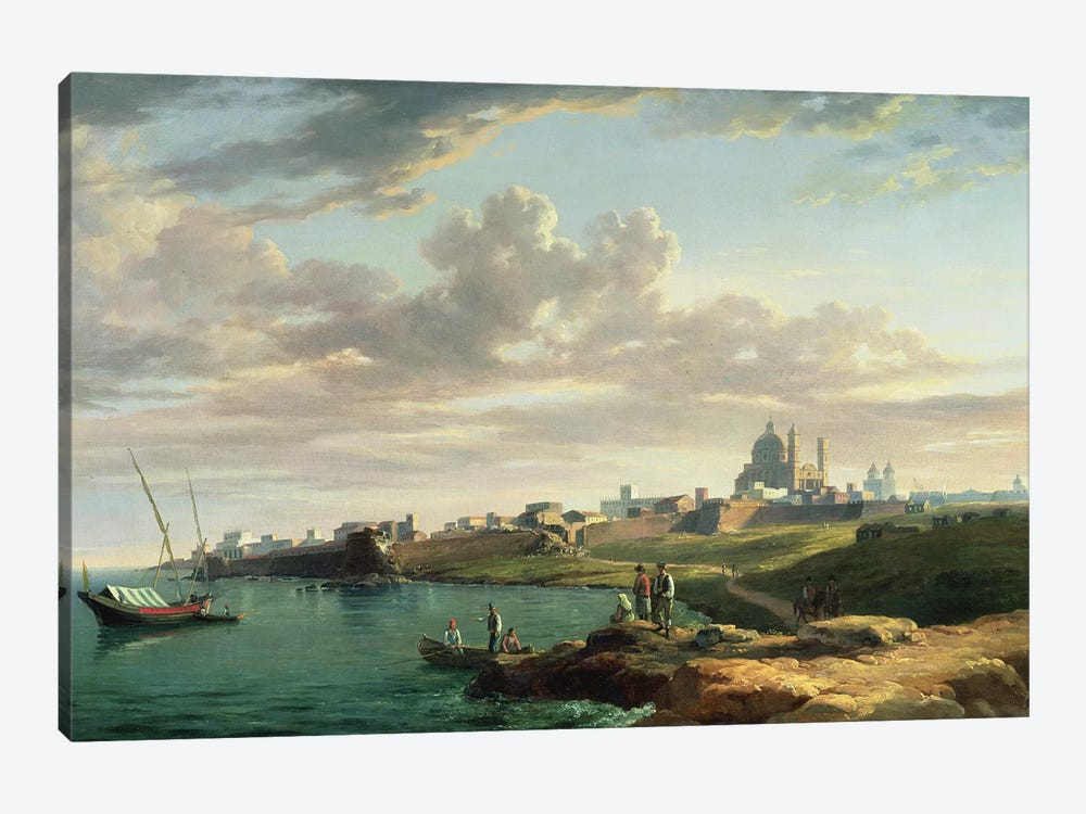 A View of Montevideo by William Marlow 1-piece Canvas Print