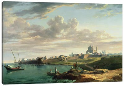 A View of Montevideo Canvas Art Print