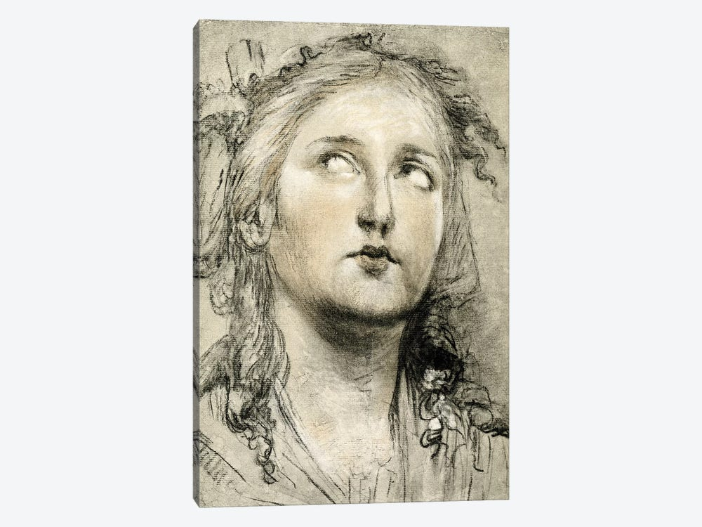 Head Study Of A Girl by Elisabeth Louise Vigee Le Brun 1-piece Art Print