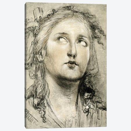 Head Study Of A Girl Canvas Print #BMN7465} by Elisabeth Louise Vigee Le Brun Canvas Print