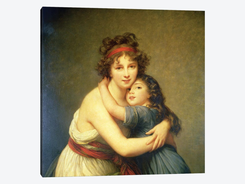 In Zoom Detail, Madame Vigee-Lebrun And Her Daughter, Jeanne-Lucie-Louise, 1789 by Elisabeth Louise Vigee Le Brun 1-piece Canvas Wall Art