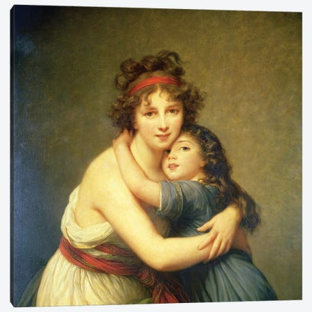 In Zoom Detail, Madame Vigee-Lebrun And Her Daughter, Jeanne-Lucie-Louise, 1789 Canvas Print #BMN7466} by Elisabeth Louise Vigee Le Brun Canvas Print