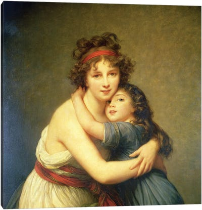 In Zoom Detail, Madame Vigee-Lebrun And Her Daughter, Jeanne-Lucie-Louise, 1789 Canvas Art Print