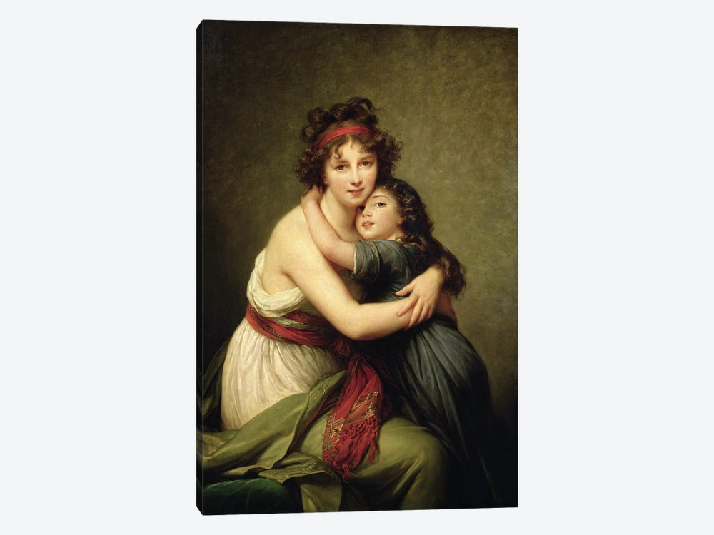 Madame Vigee-Lebrun And Her Daughter, Jeanne-Lucie-Louise, 1789 by Elisabeth Louise Vigee Le Brun 1-piece Art Print