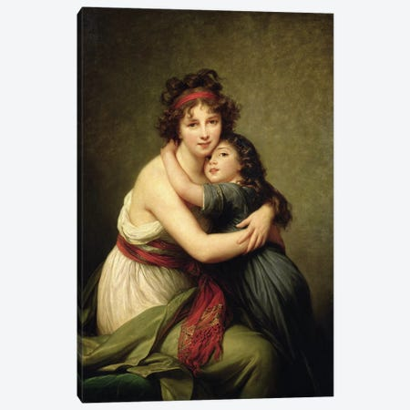 Madame Vigee-Lebrun And Her Daughter, Jeanne-Lucie-Louise, 1789 Canvas Print #BMN7467} by Elisabeth Louise Vigee Le Brun Canvas Print