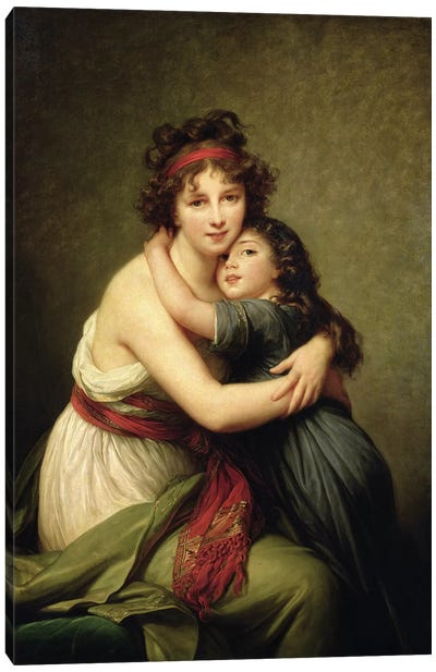 Madame Vigee-Lebrun And Her Daughter, Jeanne-Lucie-Louise, 1789 Canvas Art Print