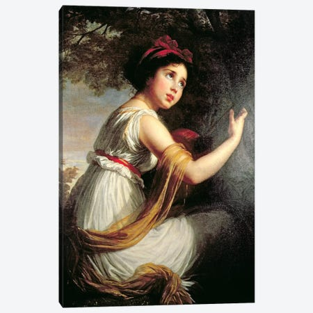 Portrait Of Julie Le Brun, c.1797 Canvas Print #BMN7469} by Elisabeth Louise Vigee Le Brun Canvas Art