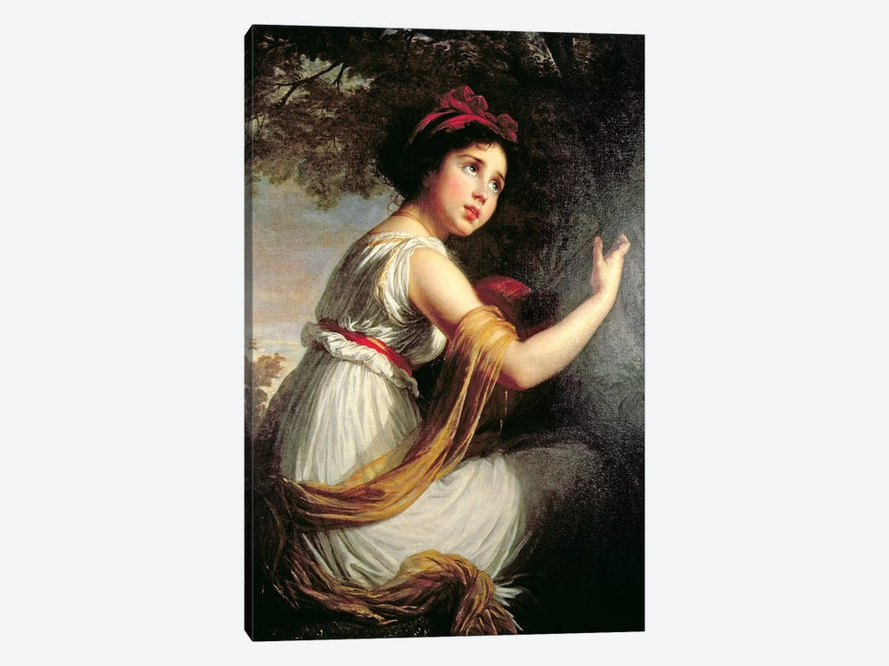 Portrait Of Julie Le Brun, c.1797 by Elisabeth Louise Vigee Le Brun 1-piece Art Print