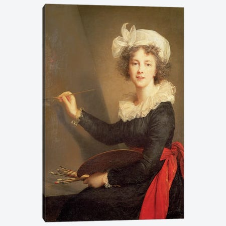 Self Portrait, 1790 Canvas Print #BMN7470} by Elisabeth Louise Vigee Le Brun Canvas Print