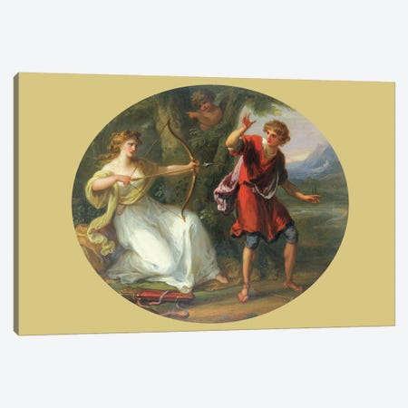 A Nymph Drawing Her Bow On A Youth, 1780 Canvas Print #BMN7472} by Angelica Kauffmann Art Print