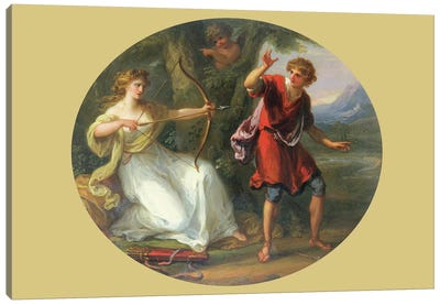 A Nymph Drawing Her Bow On A Youth, 1780 Canvas Art Print