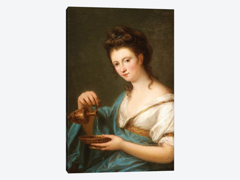 A Personification Of Hebe by Angelica Kauffmann 1-piece Canvas Art