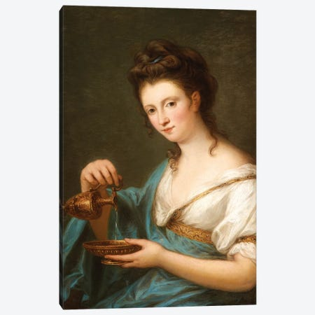 A Personification Of Hebe 3-Piece Canvas #BMN7473} by Angelica Kauffmann Art Print