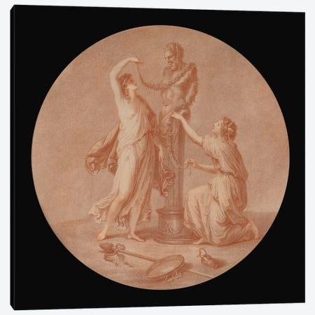A Sacrifice To Pan, 1776 Canvas Print #BMN7474} by Angelica Kauffmann Canvas Artwork