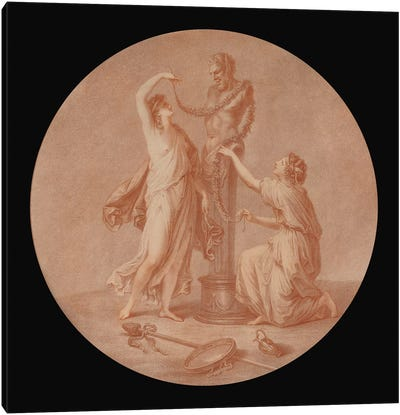 A Sacrifice To Pan, 1776 Canvas Art Print