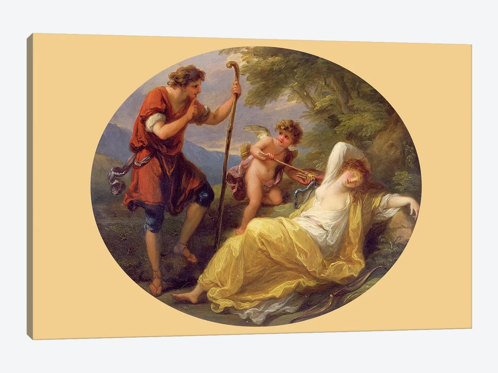 A Sleeping Nymph Watched By A Shepherd, 1780 by Angelica Kauffmann 1-piece Canvas Artwork