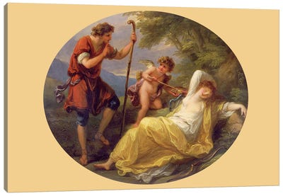 A Sleeping Nymph Watched By A Shepherd, 1780 Canvas Art Print