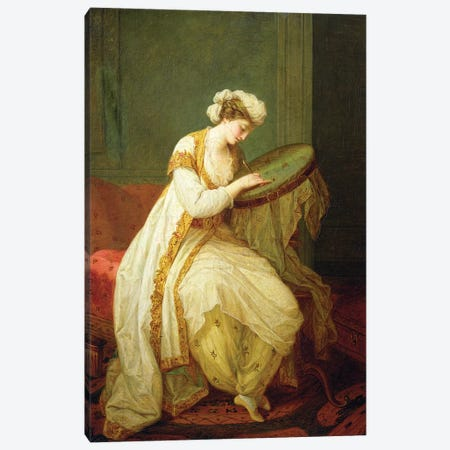 A Turkish Woman, 1773 Canvas Print #BMN7476} by Angelica Kauffmann Canvas Artwork