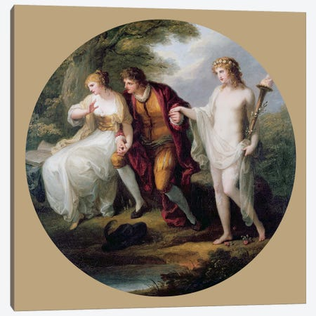 Abelard Presenting Hymen To Heloise Canvas Print #BMN7477} by Angelica Kauffmann Canvas Art