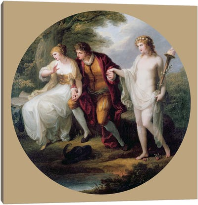 Abelard Presenting Hymen To Heloise Canvas Art Print
