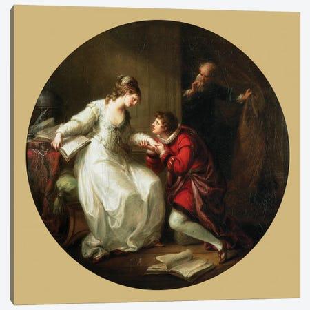 Abelard Soliciting The Hand Of Feloice Canvas Print #BMN7478} by Angelica Kauffmann Canvas Print
