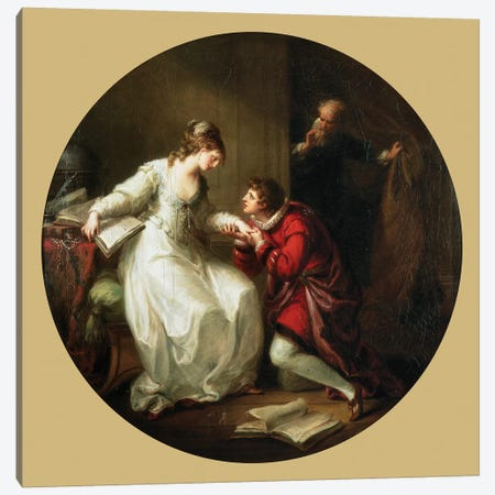 Abelard Soliciting The Hand Of Feloice Canvas Print #BMN7478} by Angelica Kauffmann Canvas Print