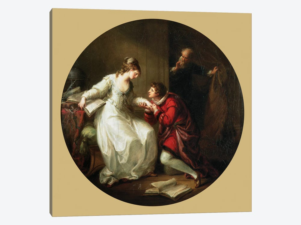 Abelard Soliciting The Hand Of Feloice by Angelica Kauffmann 1-piece Art Print