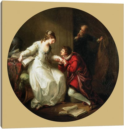 Abelard Soliciting The Hand Of Feloice Canvas Art Print