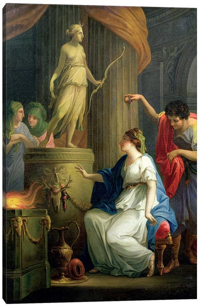 Accontius And Cydippe Before The Altar Of Diana Canvas Art Print