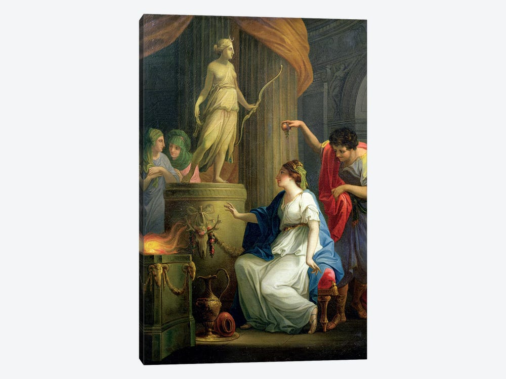 Accontius And Cydippe Before The Altar Of Diana by Angelica Kauffmann 1-piece Canvas Wall Art