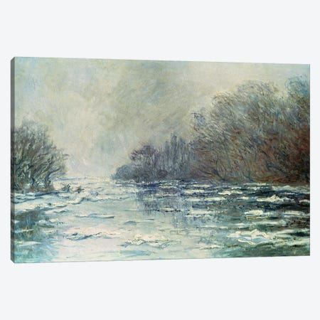 The Break up at Vetheuil, c.1883  Canvas Print #BMN747} by Claude Monet Canvas Artwork