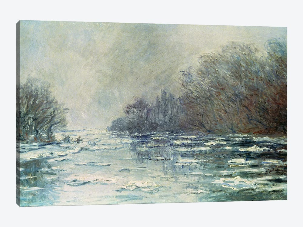 The Break up at Vetheuil, c.1883  by Claude Monet 1-piece Canvas Print