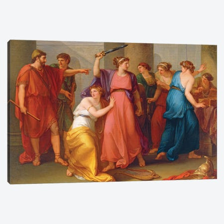 Achilles Discovered Canvas Print #BMN7480} by Angelica Kauffmann Canvas Wall Art